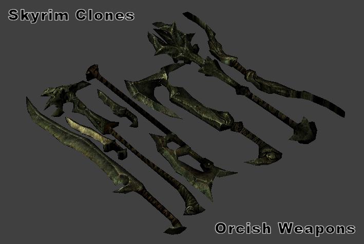 Skyrim Orcish Weapons Skyrim orcish setOrcish Weapons Skyrim