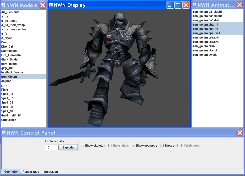 Nwn java 3d model viewer the neverwinter vault 3d model editor