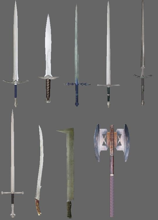 how to make lord of the rings weapons in skyrim