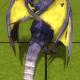 Stock blue dragon