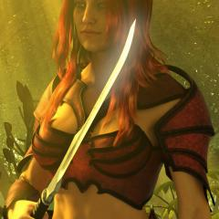 Female Warrior Portrait 1 NWN 1