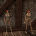 2 (nude) full body robes