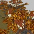 This is two Groups, TasselHof and Seeker, TasselHof has more than one building in the same tree.  Seeker just has one larger building.