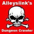 Alleyslink's Dungeon Crawler DC1 logo with Skull and Crossbones