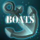 "an image of an anchor with the word ""BOATS"" imposed over it"